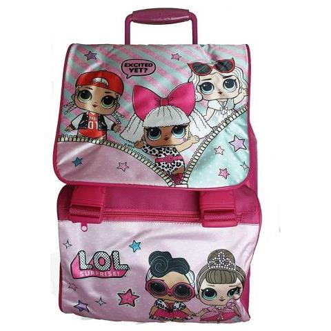 5108f7843b Arcamania Zaino Trolley Scuola Elementare L. o. l Surprise Rosa Per Bambine  Con Personaggi