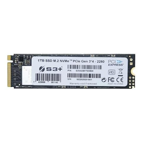 SSD 1 TB Serie S3+ M. 2 Interfaccia PCI Express 3.0 x4