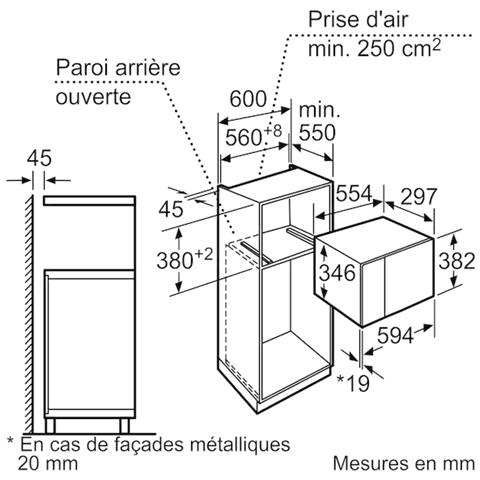 Neff - H11we60n0 Forno Da Incasso 36cm, Microonde Da Pensile, 900 W ...