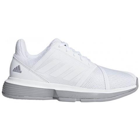 adidas Courtjam Bounce W Ftwr White light Granite Scarpa Tennis Donna Uk 4,5