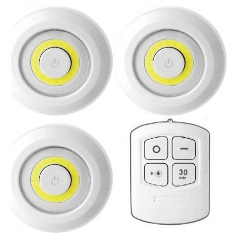 Luci A Led A Batteria.Dobo Kit 3 Luci Led Tonde Cerchio Cerchi Luminosi Telecomando Batteria Regolabili