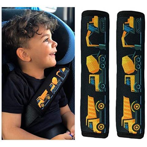 HECKBO - 2x Protezione Per Cintura Di Sicurezza, Spallina