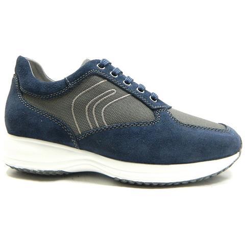 0a47977b13eb GEOX - U Happy G Scarpe Uomo Sneakers Stringate Camoscio Tela Blu - 43 Blu  - ePRICE