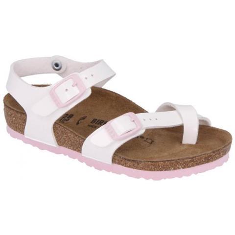 huge discount c9e73 36978 Birkenstock Taormina Birkoflor White Sandalo Bambina Eur 35