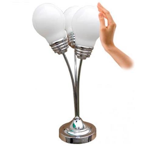 Grundig Lampada Da Tavolo In Acciaio Grundig Con Tripla Luce Altezza 54cm Design Moderno Eprice