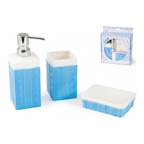 Home - Set Bagno In Ceramica Modello Amalfi 3 Pz. - ePRICE