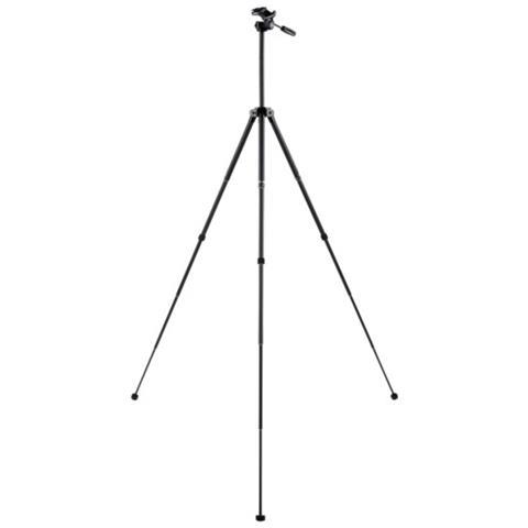 Treppiede per Fotocamere con Testa a Viti a 3 Movimenti Altezza Max 152 cm Nero V41280-EU