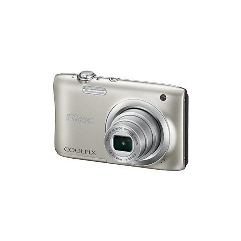 Coolpix A100 Argento Sensore CCD 20.1Mpx Zoom ottico 5x Display 2.7