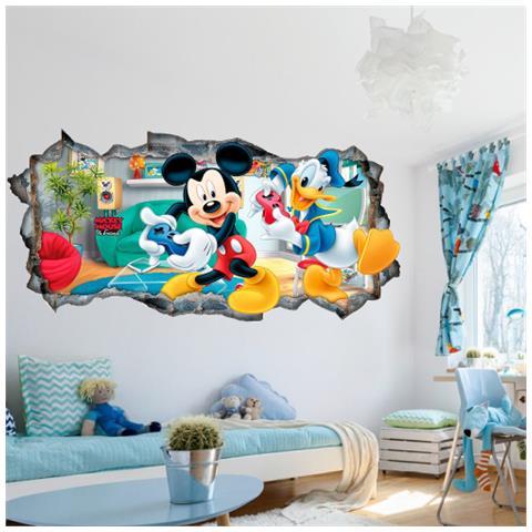 Adesivi Murali Minnie E Topolino.Stampepersonalizzate Com Adesivi Murali Cartoni Buco Foro 3d