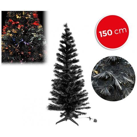 Albero Di Natale Nero.Mws 272394 Albero Di Natale Nero In Fibra Ottica Luminose