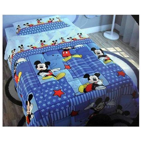 Trapunta Invernale Letto Singolo.La Bottega Del Risparmio Trapunta Invernale Disney Mickey Mouse