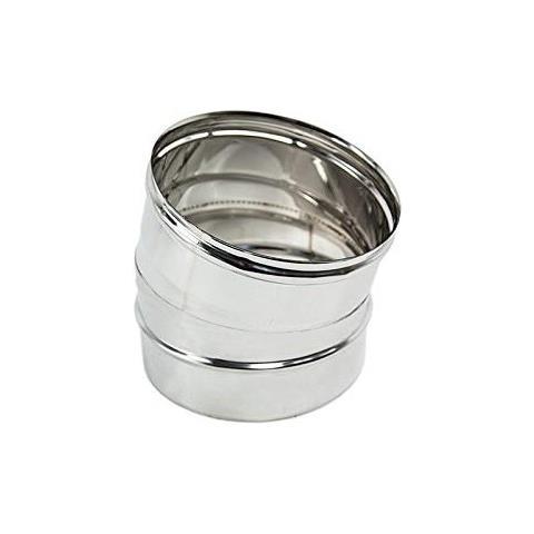 15 gradi Gomito curva acciaio inox 160mm 5 decimi AISI 304