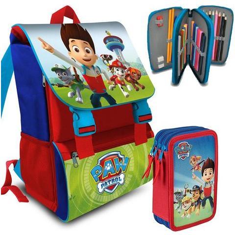 eedc48467b Disney - Kit Zaino Paw Patrol Scuola Elementare + Astuccio 3 Zip - ePRICE