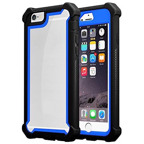 Cadorabo Custodia Per Apple Iphone 6 Plus / iphone 6s Plus In Blu Nero - 2-in-1 Cover Con Bordo Silicone Tpu E Schiena Acrilico - Back Hard Case ...