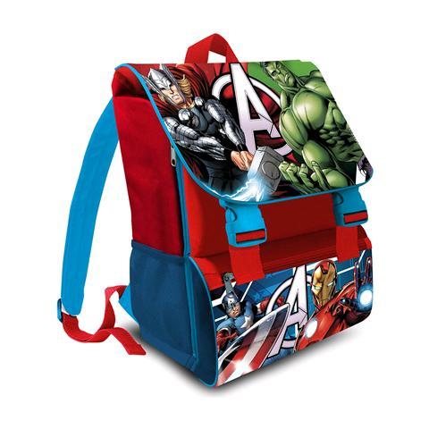 nuovo prodotto 59ae9 b39e7 Marvel Kit Zaino - Avengers Scuola Elementare Estensibile + Astuccio 3 Zip  Avengers