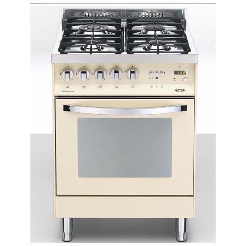 LOFRA PBI66MFT / C Cucina a 4 Fuochi Gas Forno Elettrico Multifunzione  Classe A Dimensione 60 x 60 cm Colore Avorio