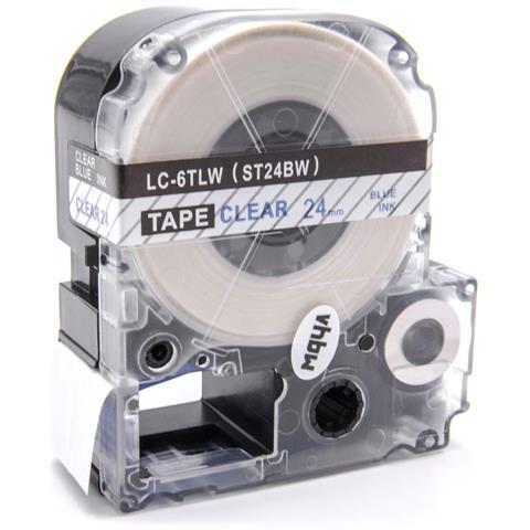 OK500P LW-900P vhbw Cartuccia a nastro 24mm per Epson LW-700 OK900P come LC-6LBP SC24BW. OK720