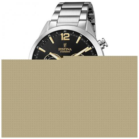 46af2dee16de59 Festina - Orologio Uomo Festina Timeless Cronografo Acciaio Nero / gold  F20343/4 - ePRICE