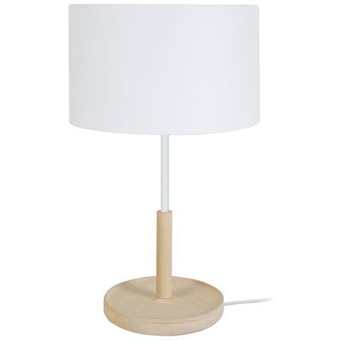 Tavolo Bianco Design.Miliboo Lampada Da Tavolo Design In Legno Bianco Eliot