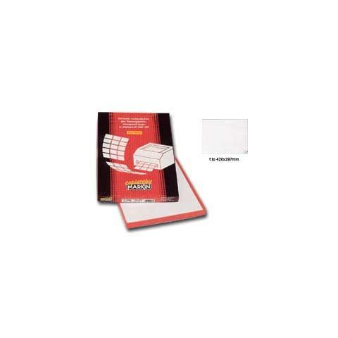 PZ.1 - Etichetta adesiva C/599 bianca 100fg A3 420x297mm (1et/fg) Markin 8007047035080 214C599A3 OFF_32436