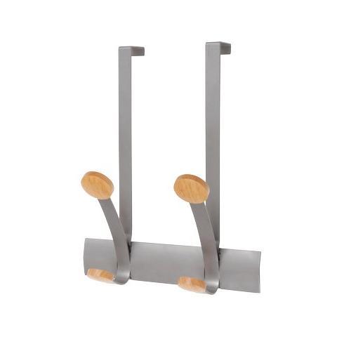 Appendiabiti Da Porta Legno.Alba Appendiabiti Da Porta 2posti 30cm Metallo Legno Alba Eprice