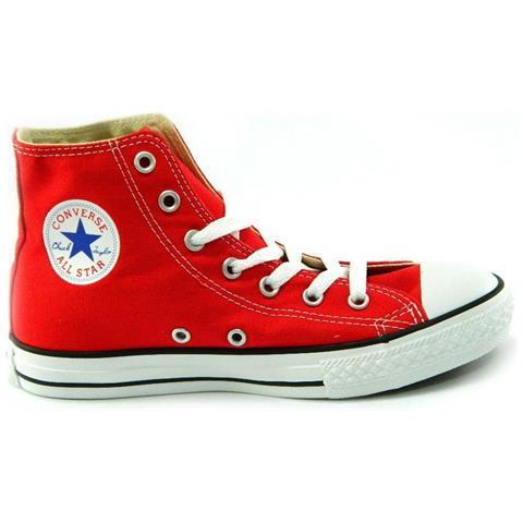 Converse All Star Ct Hi Alte Scarpe Uomo Donna Rossa Rosse Red Tela numero 39,5