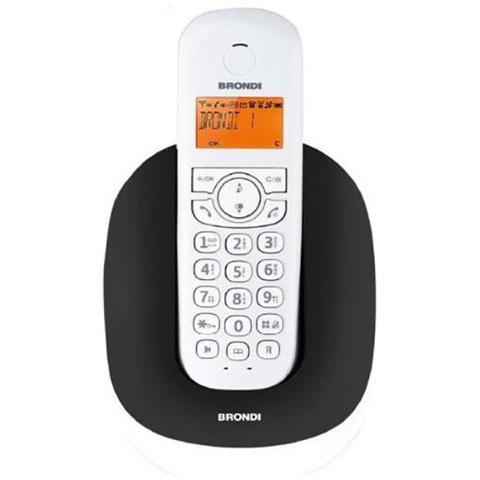10275020 Telefono Cordless Brondi Manta Nero / Bianco