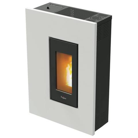 CADEL Stufa a Pellet Pegaso Madison Potenza Termica 4.9 kW Colore Bianco