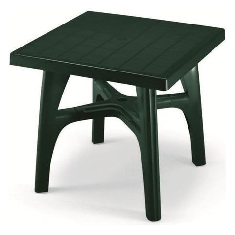 Tavoli Da Giardino Resina Scab.Scab Tavolo Da Esterno Quadromax Smontabile Cm 80x80 Verde In