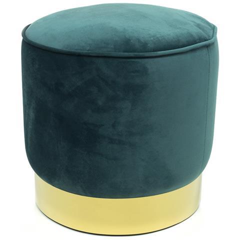 Il Pouf Arredamento.Biancheriaweb Pouf Arredo Rotondo In Velluto Colore Verde Smeraldo