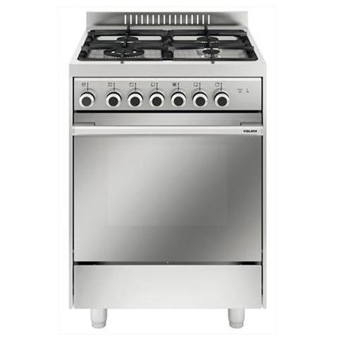 GLEM GAS - Cucina Elettrica M664MI 4 Fuochi Gas Forno Elettrico ...