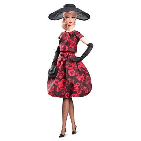 27a820cb8 MATTEL FJH77 Barbie Fashion Model Collection - Abito da Cocktail con Rose