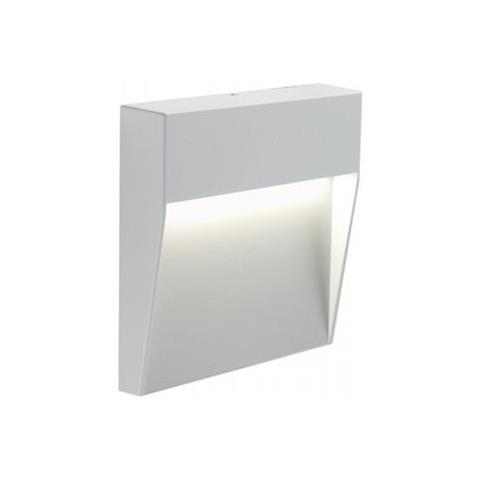 Faretto Segnapassi a Semi Incasso da Esterno a LED Grande Sovil Geo Square Bianco