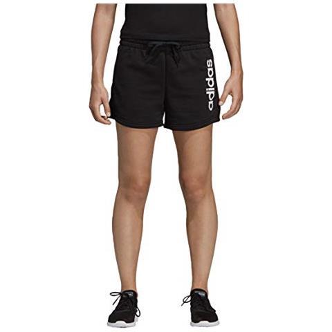 adidas W E Lin Dp2393 Short Pantaloncini Sportivi Donna Nero Nero Xs