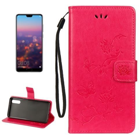 codice promozionale eafd9 145f8 MECAWEB Custodia Portafoglio Finta Pelle Per Smartphone Huawei P20 Pro