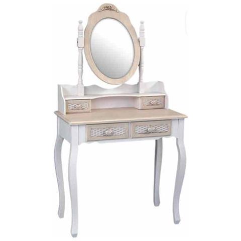 Console con specchio in stile neoclassico, laccatura policroma originale