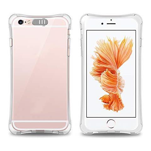 Cadorabo Apple Iphone 6 / Iphone 6s Custodia Silicone Tpu Led Flash In Stella Transparent - Morbida Cover Protettiva Super Sottile Con Bordo ...
