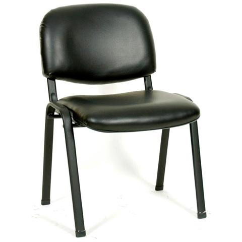 Homegarden sedia da attesa per ufficio colore nero eprice for Sedie attesa ufficio