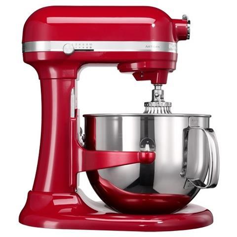 KITCHENAID 5KSM7580XEER Robot da Cucina Artisan 5 Accessori Inclusi  Capacità 6.9 L Potenza 500 W Colore Rosso Imperiale