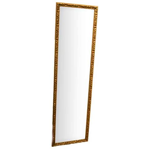 MO.WA - Specchio Da Parete Rettangolare 40x145 Cm Oro Antico ...