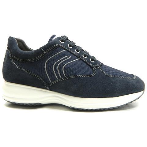 f5a3338a1543 GEOX - U Happy G Scarpe Uomo Sneakers Stringate Camoscio Tela Blu - 42 Blu  - ePRICE
