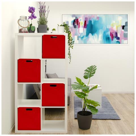Contenitori Per Scaffali Ikea.Dunedesign Set Di 4 Scatole Di Feltro 33x33x38 Cm Cesto Borsa