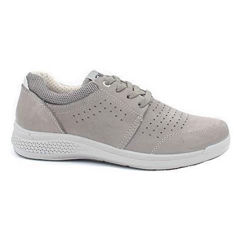 buy online 94952 3dc07 ENVAL SOFT 3240722 Sneakers Scarpe Uomo Pelle Grigio Memory Foam Grigio 43