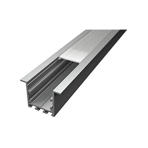 Pianeta Led Profilo In Alluminio Lp3040 Da 2 Mt Incasso Per