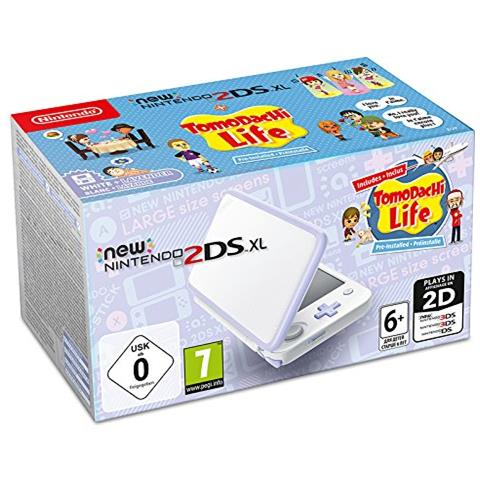 2DS XL - Bianco e Lavanda + Tomodachi Life
