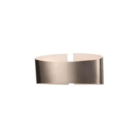Homemania - Lampada A Parete Belt Cromo Opaco Design Moderno ...