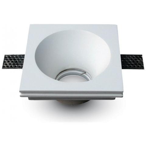 Faretti Led Incasso Gesso.V Tac Porta Faretti Led Gu10 Incasso Quadrato Gesso Bianco Vt 772 3653