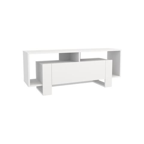 Supporti Per Mensole In Legno.Homemania Mobile Porta Tv Cd Ripiani Supporto Melville 1 Bianco