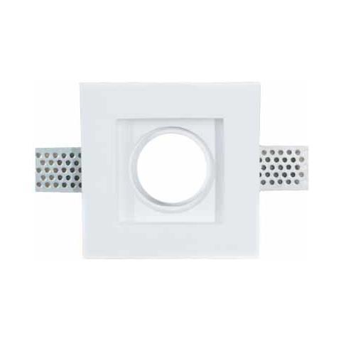 Faretti Led Incasso Gesso.V Tac Porta Faretti Led Gu10 Incasso Quadrato Gesso Bianco Vt 765 3651