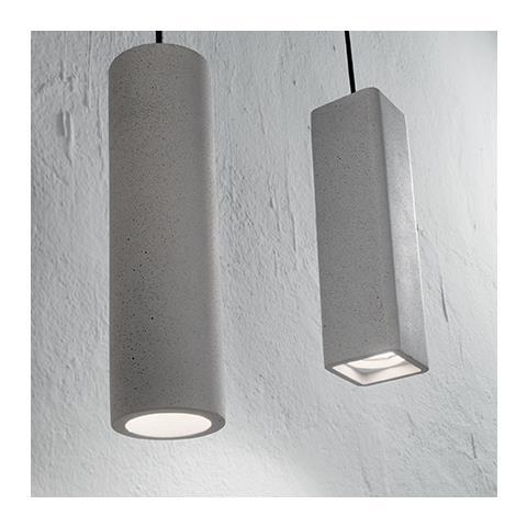 IDEAL LUX - 150673 Oak Sp1 Square Cemento, Sospensione - ePRICE